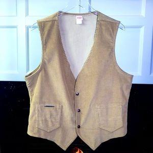 Vintage 80's Levi's Corduroy Made in USA Tan Vest